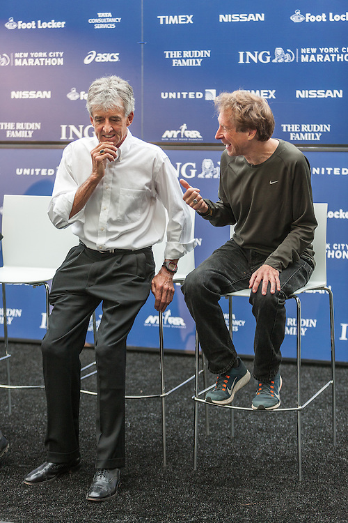 ING New York City Marathon: NYRR Hall of Fame induction,Frank Shorter, Bill Rodgers
