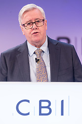 © Licensed to London News Pictures. 19/11/2018. London, UK. JOHN ALLEN, President of the CBI makes a speech at the Confederation of British Industry (CBI) conference, held at Intercontinental Hotel. Photo credit: Ray Tang/LNP
