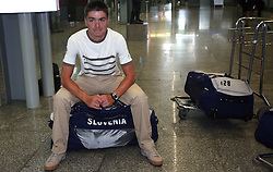 Rider Jure Golcer of Slovenian Olympic Team at departure to Beijing 2008 Olympic games, on July 31, 2008, at Airport Jozeta Pucnika, Brnik, Slovenia. (Photo by Vid Ponikvar / Sportal Images)/ Sportida)