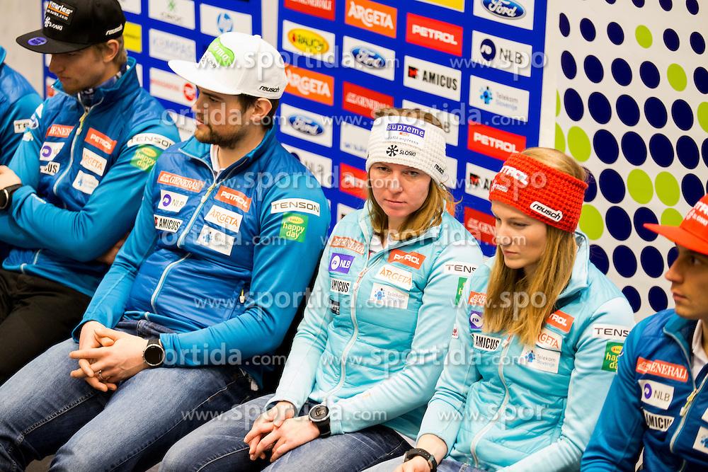 Press conference of Slovenian Alpine Ski Team before World Cup in St. Moritz, on January 31 2017, in Ljubljana, Slovenia. Photo by Urban Urbanc / Sportida