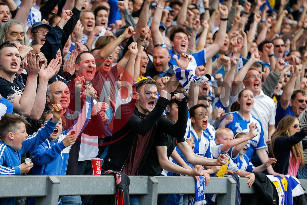 Bristol Rovers fans celebrate after Billy Bodin scores a goal to make it 1-1 - Mandatory byline: Rogan Thomson/JMP - 08/03/2016 - FOOTBALL - Memorial Stadium - Bristol, England - Bristol Rovers v Dagenham & Redbridge - Sky Bet League 2.