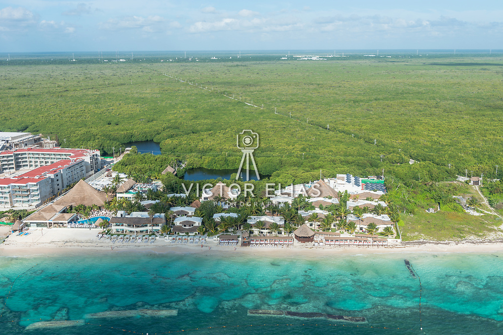 Aerial view of the Desire Resort & Spa Riviera Maya. Mexico