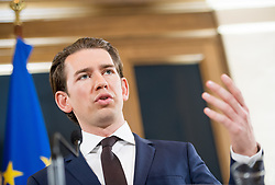 06.12.2017, Palais Epstein, Wien, AUT, Koalitionsverhandlungen von ÖVP und FPÖ anlässlich der Nationalratswahl 2017, im Bild ÖVP-Chef Sebastian Kurz // Head of the Austrian Peoples Party (OeVP) Sebastian Kurz during coalition negotiations between the Austrian Peoples Party and Austrian Freedom Party due to general elections 2017 in Vienna, Austria on 2017/12/06, EXPA Pictures © 2017, PhotoCredit: EXPA/ Michael Gruber