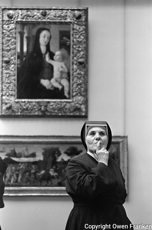 Nun at the Louvre