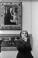 Nun at the Louvre