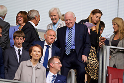 WIGAN, ENGLAND - Friday, July 14, 2017: Wigan Athletic's owner Dave Whelan during a preseason friendly match against Liverpool at the DW Stadium. (Pic by David Rawcliffe/Propaganda)