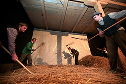 CZECH REPUBLIC VYSOCINA SEBRANICE 28OCT09 - Traditional wheat harvest on display during a show of historic farming practices in the village of Sebranice, Vysocina, Czech Republic...jre/Photo by Jiri Rezac..© Jiri Rezac 2009