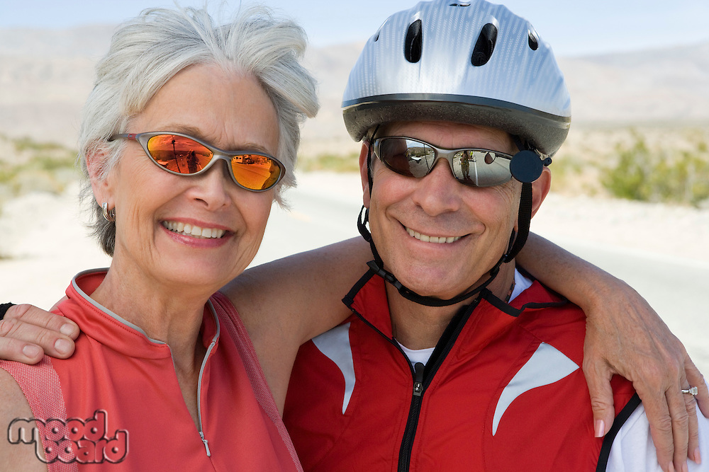 Portrait of Senior couple in sportswear