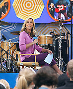 Lara Spencer appears during the Good Morning America Concert Series at Rumsey Playfield in New York City, New York on May 23, 2014.