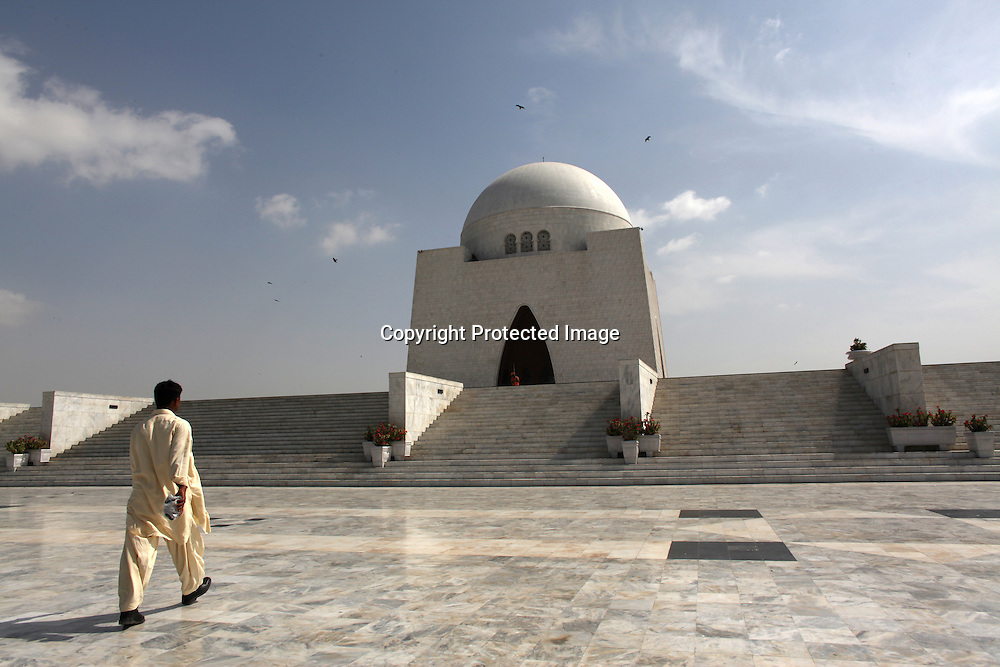 Quaid-i-azam mausoleum, grave of jinnah, founder of Pakistan.