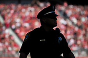 A Police Officer watches fans during a NFL game between the San Francisco 49ers and the Arizona Cardinals at Levi's Stadium in Santa Clara, Calif., on November 5, 2017. (Stan Olszewski/Special to S.F. Examiner)