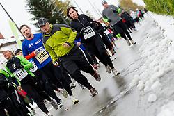 Athletes run during 17th Ljubljana Marathon 2012 on October 28, 2012 in Ljubljana, Slovenia. (Photo By Vid Ponikvar / Sportida)