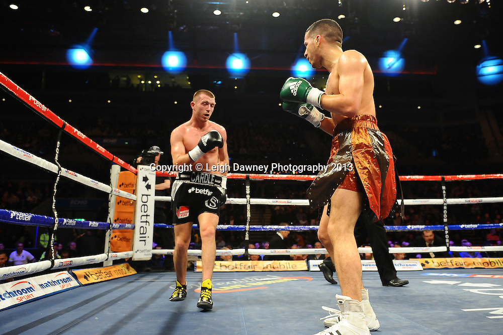 Scotty Cardle defeats Yves Mesny in a 6x3 Lightweight contest at the Echo Arena, Liverpool, London, UK on the 30th March 2013. Matchroom Sport © Leigh Dawney Photography 2013.
