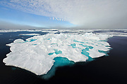 Pack ice at 81,5 degrees north in late July 2012.