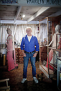 Los Angeles, April 7 2012 - Portrait of Greg Schreiner' in the room where he keeps his collection of items related to Marilyn Monroe.