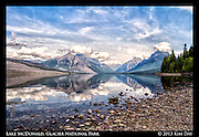 Lake McDonald Mountain Reflections<br /> Glacier National Park<br /> September 2013