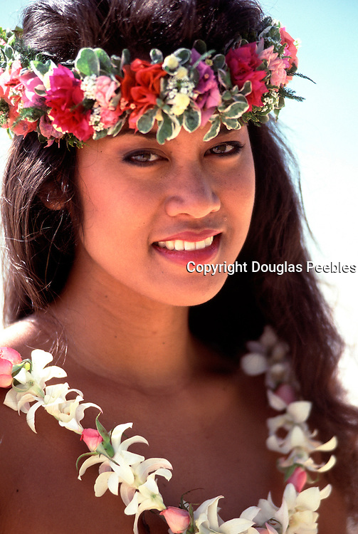 Polynesian woman, Hawaii<br />