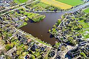 Nederland, Noord-Holland, Gemeente Waterland, 20-04-2015; Broek in Waterland met Sint-Nikolaaskerk en water van het Haven Rak.<br /> Picturesque village in Waterland, north of Amsterdam.<br /> luchtfoto (toeslag op standard tarieven);<br /> aerial photo (additional fee required);<br /> copyright foto/photo Siebe Swart