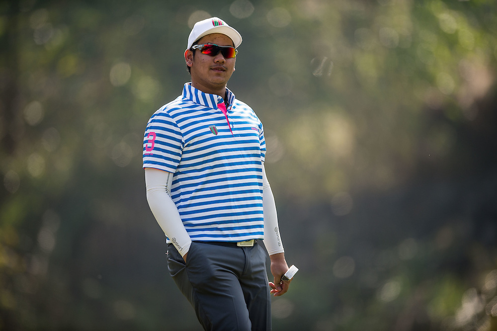 Channut Buntavong of Thailand in action during day two of the 10th Faldo Series Asia Grand Final at Faldo course on 03 March of 2016 in Shenzhen, China. Photo by Xaume Olleros.