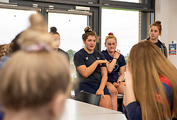 Bristol Bears Women players chat to young members of North Bristol RFC - Mandatory by-line: Paul Knight/JMP - 11/01/2020 - RUGBY - Shaftesbury Park - Bristol, England - Bristol Bears Women v Firwood Waterloo Women - Tyrrells Premier 15s