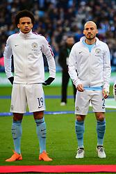LEROY SANE AND DAVID SILVA MANCHESTER CITY, Arsenal v Manchester City Carabao League Cup Final, Wembley Stadium, Sunday 25th February 2018, Score Arsenal 0- Man City 3.