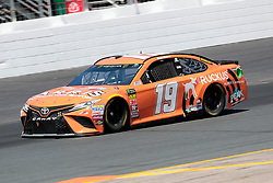 July 21, 2018 - Loudon, NH, U.S. - LOUDON, NH - JULY 21: Daniel Suarez, Monster Energy NASCAR Cup Series driver of the ARRIS Toyota (19), during practice for the Foxwoods Resort Casino 301 on July 21, 2018, at New Hampshire Motor Speedway in Loudon, New Hampshire. (Photo by Fred Kfoury III/Icon Sportswire) (Credit Image: © Fred Kfoury Iii/Icon SMI via ZUMA Press)