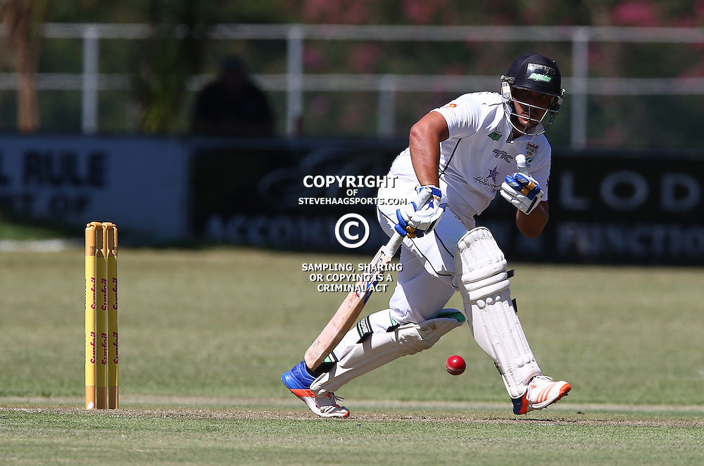 Vaughn van Jaarsveld of the Hollywoodbets Dolphins during Day 1 of the Sunfoil Series match between Hollywoodbets Dolphins and the bizhub Highveld Lions at the City Oval, Pietermaritzburg,South Africa. 19th January 2017  - (Photo by Steve Haag)