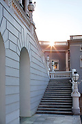 The Falaknuma Palace is a rare blend of the<br /> Italian and Tudor style of architecture spread<br /> over an area of 93,971 sq metres.