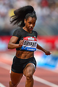 Dezerea Bryant of the United States of America in the Women's 100 m Final at the Muller Anniversary Games, Day One, at the London Stadium, London, England on 21 July 2018. Picture by Martin Cole.