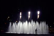 Belo Horizonte_MG, Brasil...Silhueta de um homem na Praca da Estacao em Belo Horizonte...A man silhouette in the Estacao square in Belo Horizonte...FOTO: LEO DRUMOND /  NITRO
