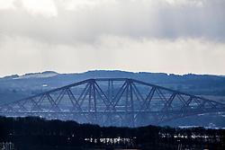 Forth Rail Bridge span, as seen from the A921 near Burntisland, Fife.