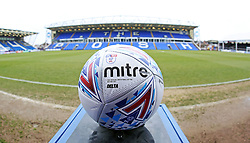 A general view of the EFL Mitre match ball on display at the ABAX Stadium - Mandatory by-line: Joe Dent/JMP - 10/03/2018 - FOOTBALL - ABAX Stadium - Peterborough, England - Peterborough United v Charlton Athletic - Sky Bet League One