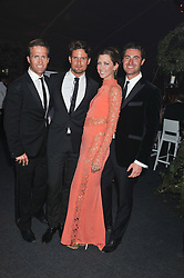 Left to right, Humphrey Berney, Stephen Bowman, Margo Stilley and Ollie Baines at Gabrielle's Gala an annual fundraising evening in aid of Gabrielle's Angel Foundation for Cancer Research held at Battersea Power Station, London on 2nd May 2013.