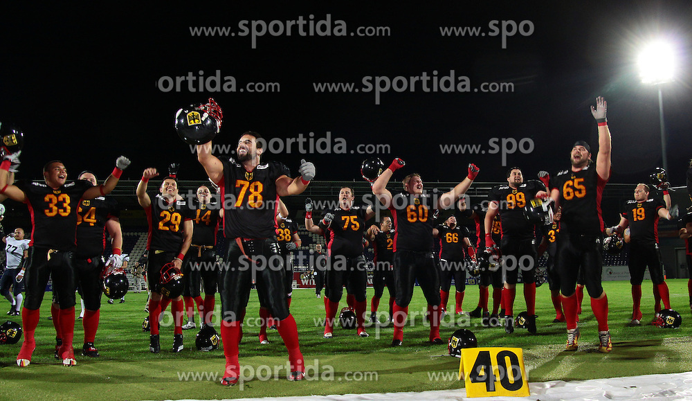 29.07.2010, Brita Arena, Wiesbaden, GER, Football EM 2010, Team Finland vs Team Germany, im Bild Jubel von Team Germany nach dem Sieg,  EXPA Pictures © 2010, PhotoCredit: EXPA/ T. Haumer / SPORTIDA PHOTO AGENCY