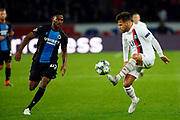Juan Bernat of PSG in action against Emmanuel Bonaventure of Club Brugge during the UEFA Champions League, Group A football match between Paris Saint-Germain and Club Brugge on November 6, 2019 at Parc des Princes stadium in Paris, France - Photo Mehdi Taamallah / ProSportsImages / DPPI