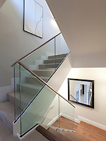 Domestic Staircase with glass balustrade