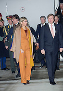 Paris,  09-3-2016 <br /> <br /> State Visit of King Willem-Alexander to France accompanied by Queen Maxima.<br /> <br /> Arrival at Velizy-Villacoublay airport<br /> <br /> <br /> <br /> <br /> <br /> Copyright: Royalportraits Europe/Bernard Ruebsamen