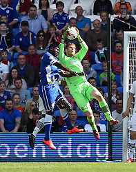 Bolton Wanderers' Adam Bogdan makes a save at Cardiff City Stadium - Photo mandatory by-line: Paul Knight/JMP - Mobile: 07966 386802 - 06/04/2015 - SPORT - Football - Cardiff - Cardiff City Stadium - Cardiff City v Bolton Wanderers - Sky Bet Championship