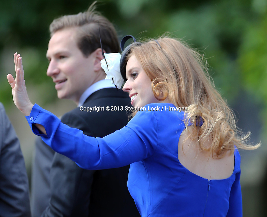 Princess Beatrice arriving at the Lady Melissa Percy and Thomas van Straubenzee wedding at St.Michaels Church, Alnwick, Northumberland after their wedding ,Saturday, 22nd June 2013<br /> Picture by:  Stephen Lock / i-Images