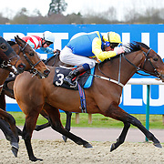 The Mongoose and Adam Kirby winning the 12.40 race