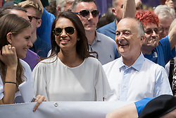 © Licensed to London News Pictures. 23/06/2018. London, UK. Activists Gina Miller and Tony Robinson join the People's Vote march for a second EU referendum in central London. Photo credit: Peter Macdiarmid/LNP