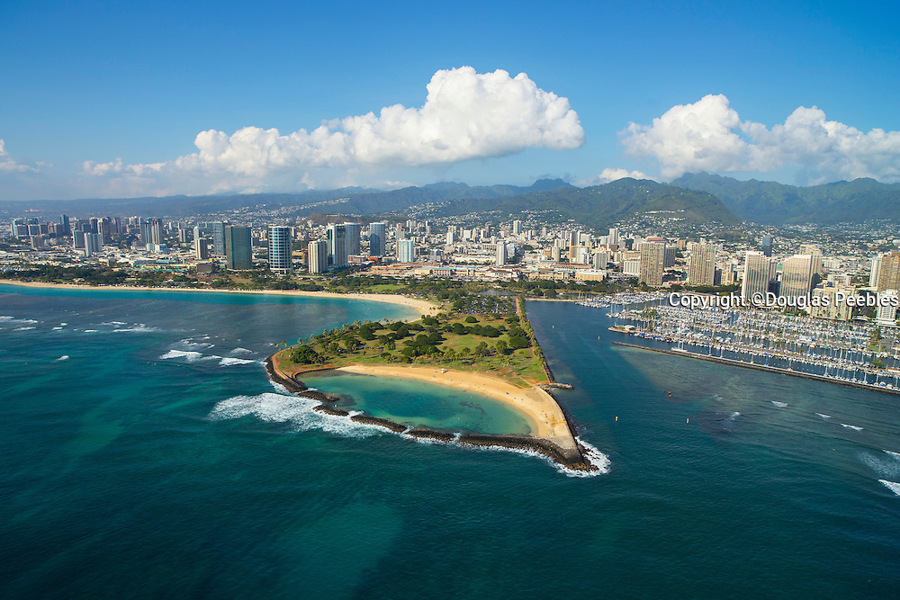 Magic Island, Ala Moana Beach Park, Waikiki, Honolulu, Oahu, Hawaii