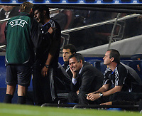 Photo: Richard Lane.<br />Barcleona v Chelsea. UEFA Champions League, Group A. 31/10/2006. <br />Chelsea's manager, Jose Mourinho finds the referee and officials laughable.