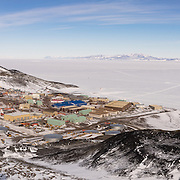 Panorama of McMurdo Station from the Hut Point Ridge Loop Trail