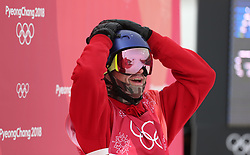 Great Britain's Billy Morgan celebrates a bronze medal in the Men's Snowboarding Big Air Final at the Alpensia Ski Jumping Centre during day fifteen of the PyeongChang 2018 Winter Olympic Games in South Korea.
