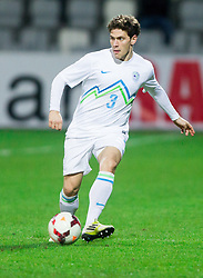 Erik Janza  of Slovenia during football match between U21 National Teams of Slovenia and Russia in 6th Round of U21 Euro 2015 Qualifications on November 15, 2013 in Stadium Bonifika, Koper, Slovenia. Russia defeated Slovenia 1-0. Photo by Vid Ponikvar / Sportida