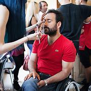 Deuxième édition du défilé HandiFashion Paris à la Mairie du IVe arrondissement de Paris - 12 juin 2014 - Michaël Jeremiasz