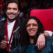 NLD/Hilversum/20180216 - Finale The voice of Holland 2018, Waylon en Ali B.