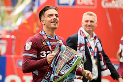 May 27, 2019 - London, England, United Kingdom - Jack Grealish (10) of Aston Villa looks up to the Villa supporters during the Sky Bet Championship match between Aston Villa and Derby County at Wembley Stadium, London on Monday 27th May 2019. (Credit: Jon Hobley | MI News) (Credit Image: © Mi News/NurPhoto via ZUMA Press)