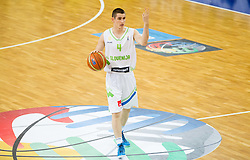 Jan Span of Slovenia during basketball match between National teams of Slovenia and Lithuania in Preliminary Round of U20 Men European Championship Slovenia 2012, on July 14, 2012 in Domzale, Slovenia. Slovenia defeated Lithuania 87-81. (Photo by Vid Ponikvar / Sportida.com)